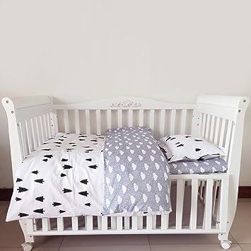 Kinder Baby Bettwäsche Set Für Wiege Baumwolle 3 Tlg Bett Bettlaken