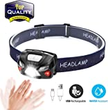 The Best Rechargeable Headlight Headlamp With back Light White /& Red LED BNIB