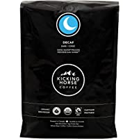 Kicking Horse Coffee, Decaf, Swiss Water Process, Dark Roast, Whole Bean, 1 kg - Certified Organic, Fairtrade, Kosher Coffee
