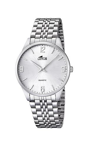 6c131d2c61d9 Lotus Reloj Analógico para Hombre de Cuarzo con Correa en Acero Inoxidable  15883 2  Amazon.es  Relojes