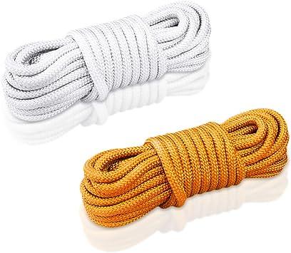 XGzhsa Cuerda de polipropileno de 6mm, Cuerda de escalada 30m, Cuerda gruesa multifuncional de nylon Durable y cuerda de seguridad para paquetes de ...