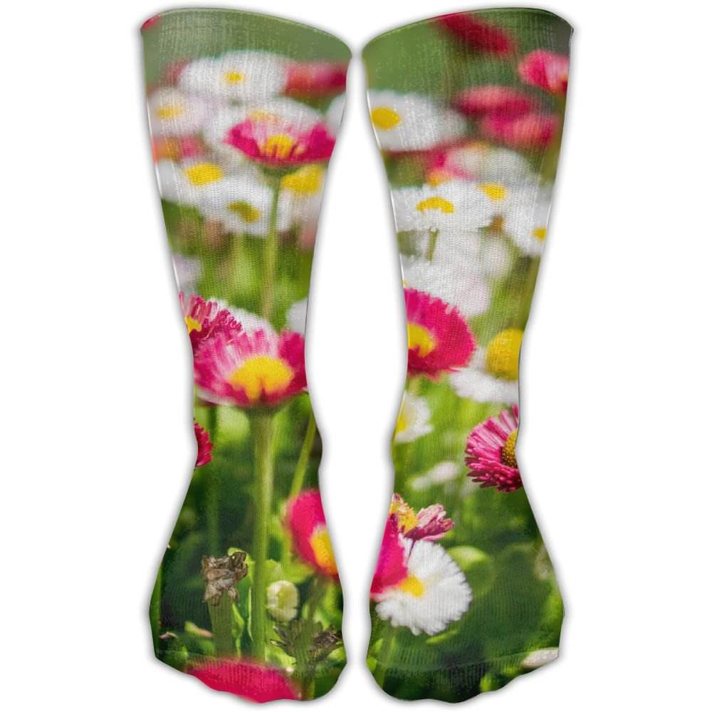 Men And Women Countryside Flower Floral Patterned Compression Socks,1 Pair