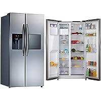 Super General 700 Liters Side By Side Refrigerator, Steel - SGR896SBS-SS