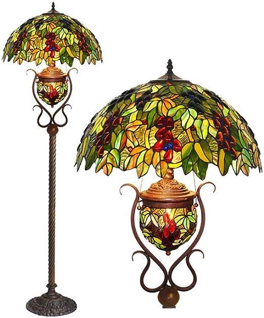 Lámparas de pie estilo Tiffany de 18 pulgadas, lámpara de pie con ...