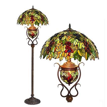 Lámparas de pie estilo Tiffany de 18 pulgadas, lámpara de ...