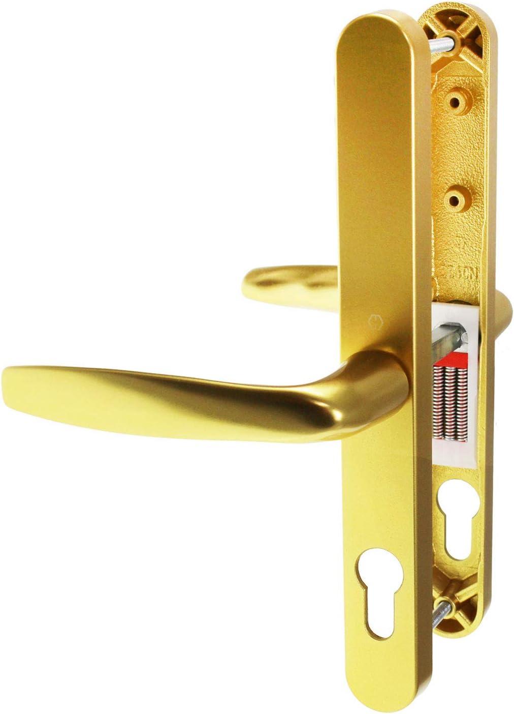 Fullex 68PZ Lever both sides Sprung UPVC Door Handle 68mm White Gold Chrome