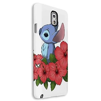 Funda carcasa para Samsung Galaxy Note 3 dibujo stitch con flores