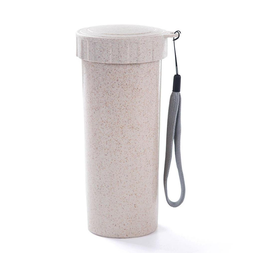Molyveva Travel Mug Office Coffee Tea Water Bottle Cups Straw Wheat Plastlc Cup, 16.5*5.8*6.5CM Old Tree Store