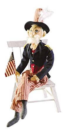 Gallerie II 66317 Gathered Traditions Uncle Sam Figure Blue