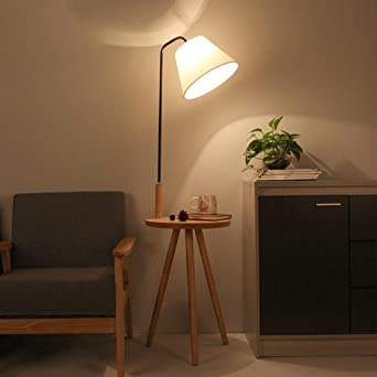 TangMengYun Holz Stehlampe, Einfache Standard Lampe Für Schlafzimmer  Nachttischlampe Arbeitszimmer Wohnzimmer, Moderne Sofa Lampe
