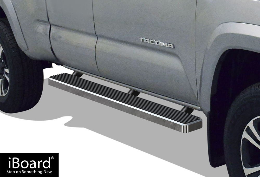 Matte Black 5' iBoard Running Boards Fit 05-17 Toyota Tacoma Access Cab APS Autoparts
