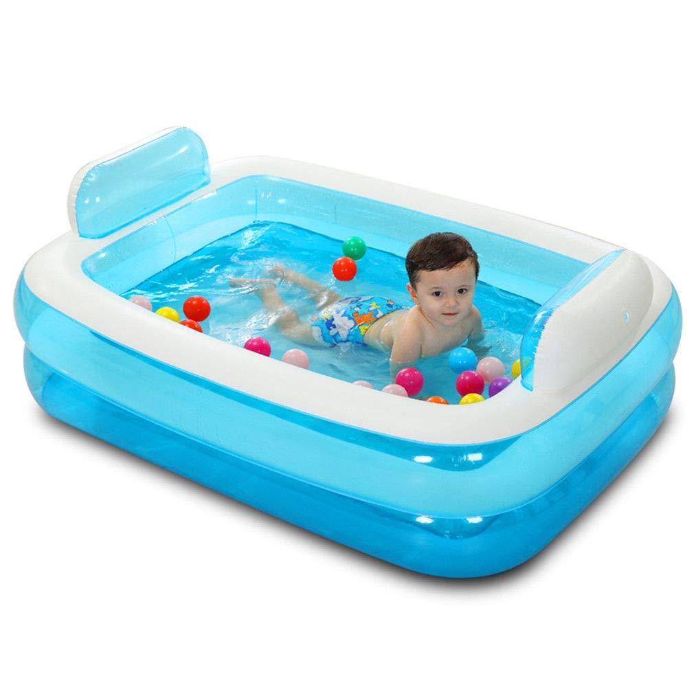 HErougeIGH Piscine Gonflable Dossier Familial Gonflable Enfant épaissi Adulte Baignoire Bleu Inflatable Pool
