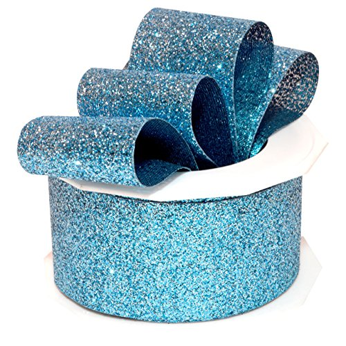 - Morex Ribbon 98509/10-602 Princess Glitter Metallic and Nylon Ribbon, 1-1/2-Inch by 10-Yard, Ice Blue