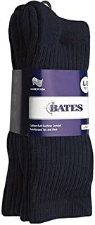 product image for Bates Footwear Cotton Duty Crew Navy 4 Pk Medium Socks Made in the USA