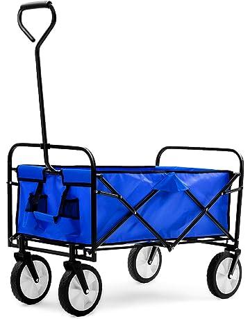 LQQFFGarden Trolley Heavy Truck Trolley Trolley Truck Color Blue Transport Trolley Size : B