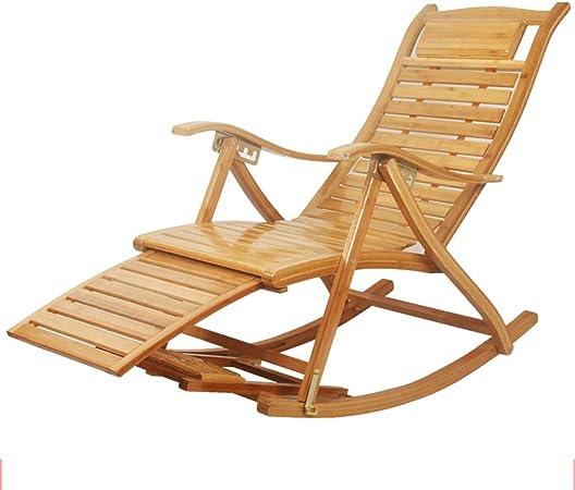 Fauteuil à bascule en bambou d'extérieur Patio Chaise longue