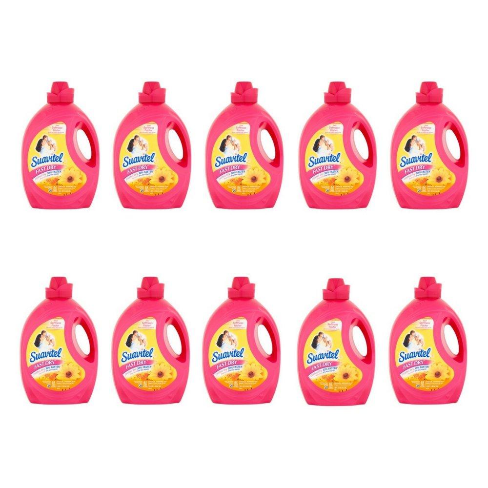 Suavitel Fast Dry Magical Morning Sun Fabric Conditioner, 135 fl oz (pack of 10)