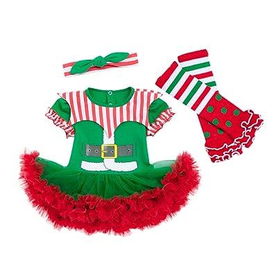 Baohooya Conjuntos Bebe Niña Invierno 0-24 Meses - Disfraz Elfo ...