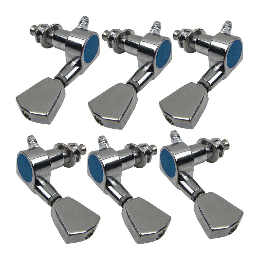 Ikn Lot de mécaniques Chrome Couleur 3L3R pour LP Style Mécaniques iknmusic LPXZ-01