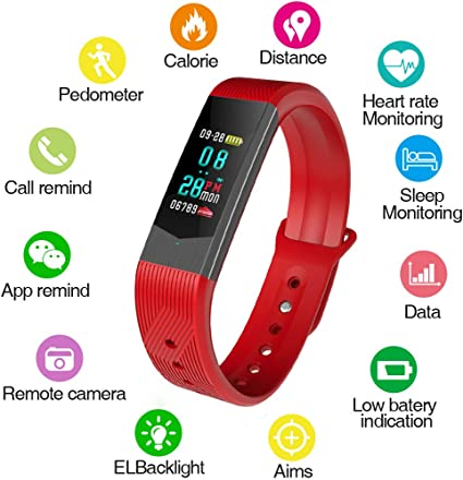 BOZLUN Smartwatch for Men and Women, Waterproof Fitness Tracker Watch with Heart Rate Monitor Blood Pressure Step Calories Counter Call Reminder
