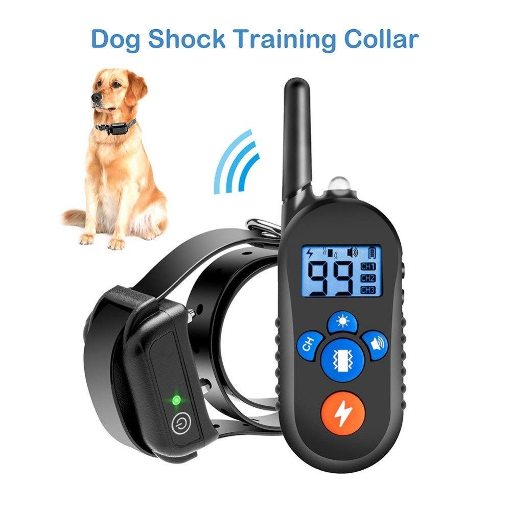 A Dog Training Collar Remote – Rechargeable Waterproof Collar Receiver Training Devices,Tracking Night Light,300 Yards Remote Range,Light LCD Screen,A
