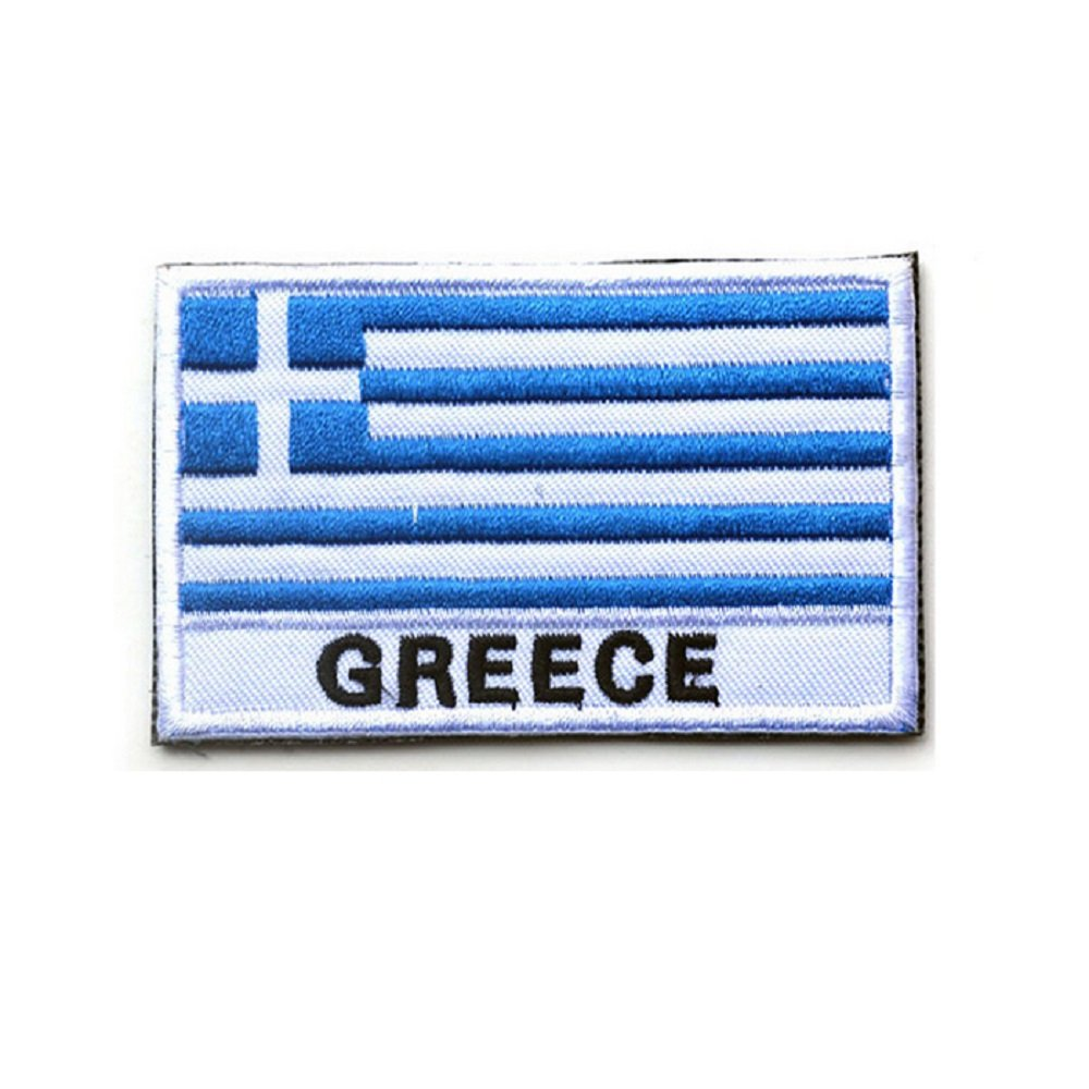 3D embroidery armband Greece Flag patch Velcro Patches//Hook/&Loop Patches