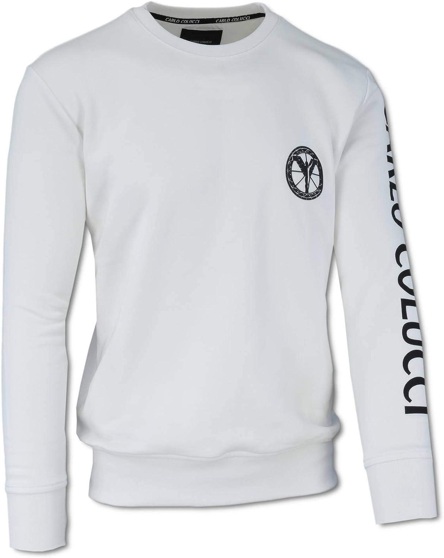 Carlo Colucci Sweatshirt aus Baumwollfleece Schwarz