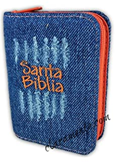 Santa Biblia Mini Bolsillo Jean con Cierre, Reina-Valera 1960, RagBook, anaranjado