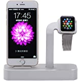 NIUTOP Apple Watch Stand, 2 in 1 Premium Aluminium Ladestation