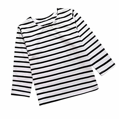 2dd17123bda Baby Kids Boys Girls Star Striped Long Sleeve O Rong BFF T-Shirt Tee ...