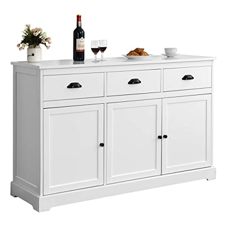 Giantex Sideboard Buffet Server Storage Cabinet Console Table Home Kitchen  Dining Room Furniture Entryway Cupboard with 2 Cabinets and 3 Drawers ...