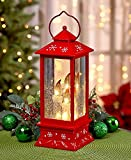 Lighted Snowy Candle Lantern
