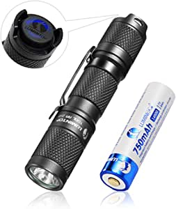 LED small torch, Pocket Mini EDC Flashlight torch Rechargeable - LUMINTOP Tool AA 2.0, 2020 New Recommend Super Bright 650 Lumens, 5 Modes with Mode Memory, IP68 Waterproof, Powered by AA or 14500 (Magnetic tail and 14500 Rechargeable battery Included) , Perfect for EDC ,Dog Walking ,Camping ,Hiking, Emergency etc. (Black)