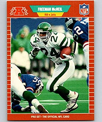 74ec42acbd8 Amazon.com: 1989 Pro Set #304 Freeman McNeil NY Jets NFL Football ...