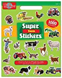 T.S. Shure Super Stickers Book Bundle (Farm & Animals) Pack of 2 Over 2000 Stickers