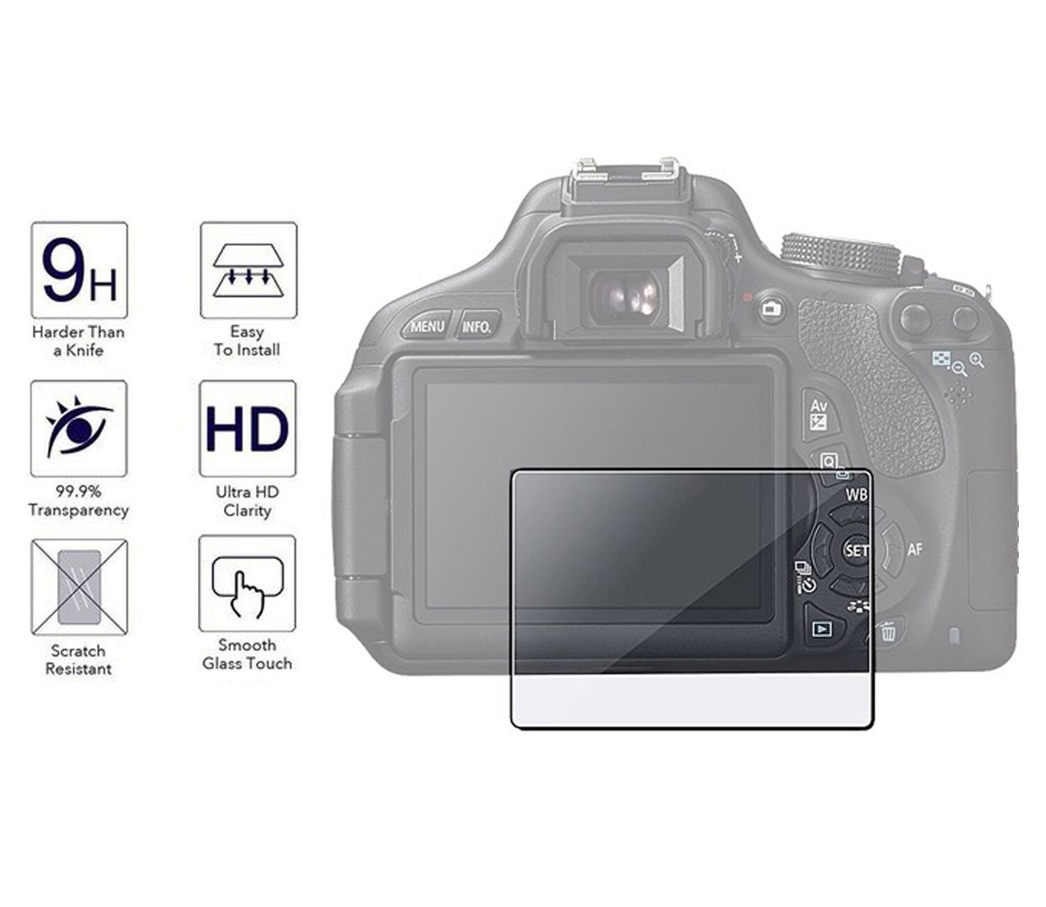 Nikon D750 Screen Protector,Y&MProfessional Anti Glare