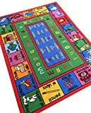 """Kids Educational English Spanish Numbers & Words 3'3"""" x 5' Children's Fun Area Rug -CORRECTED Revised Spellings"""