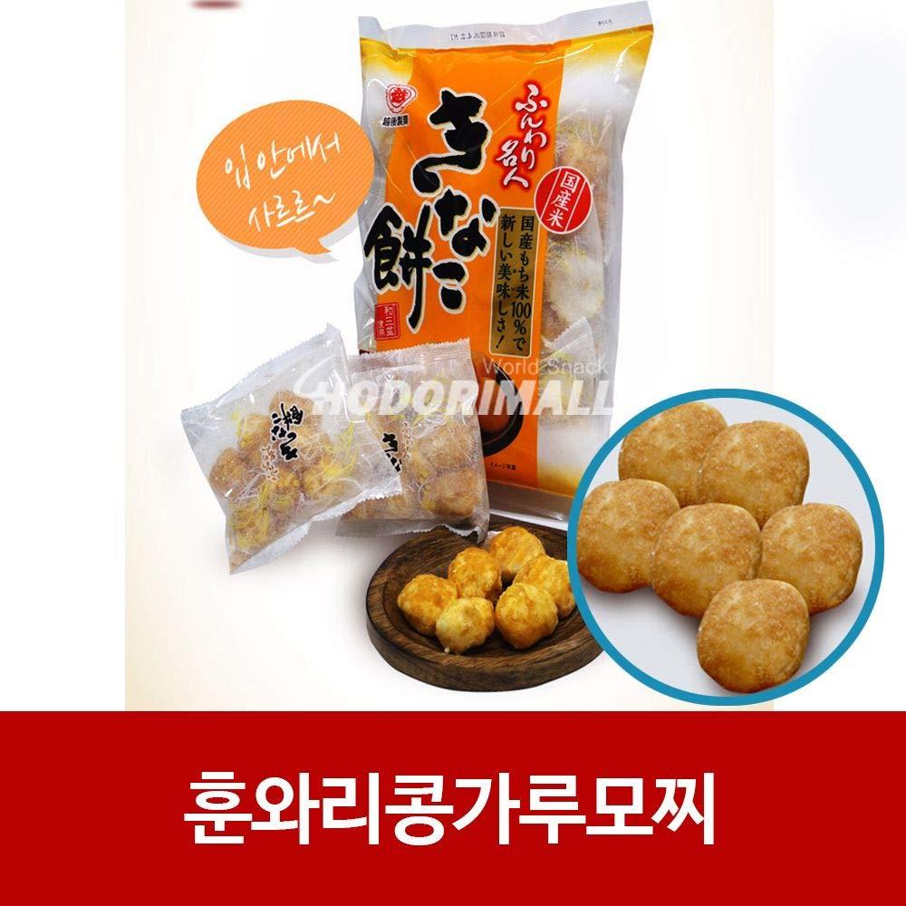 Japanese Ichigoseika Funwari Soy Flour Mochi Snack 85g x 6 by Ichigoseika Funwari Meijin