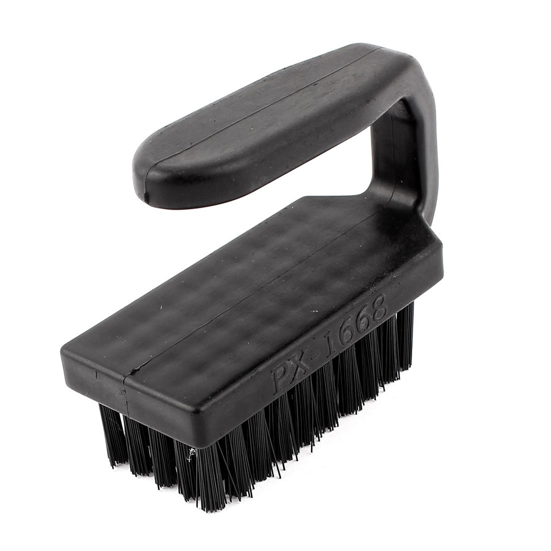uxcell Plastic Anti-Static Cleaning Stiff Bristles Scrub Brush Cleaner Black a15052100ux0995