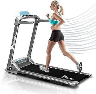 PowerMax Fitness TD-M4 (4HP Peak) Pre-installed Motorized Treadmill, Home Use & Semi Automatic Lubrication