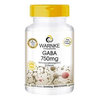 GABA 750mg de – ácido gamma amino butírico – 60 comprimidos