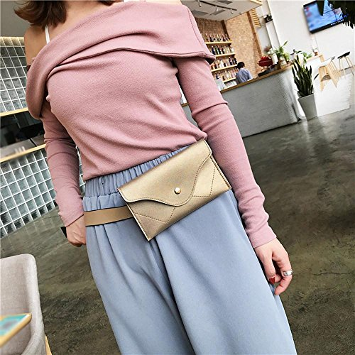 Leather Messenger Gold Women Pure Pocciol Handbags Wallet Color Clutch Splice Envelope Elegant Evening Black XAPw6