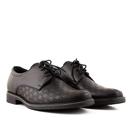 Don Luca London Paddington Men s Derby Leather Shoes in Black Brown ... bf94c7214224