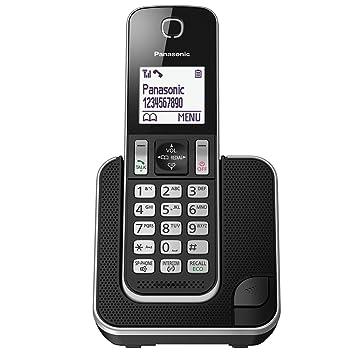 Panasonic kx tgd310eb cordless home phone with nuisance amazon panasonic kx tgd310eb cordless home phone with nuisance call blocker and lcd display black sciox Choice Image