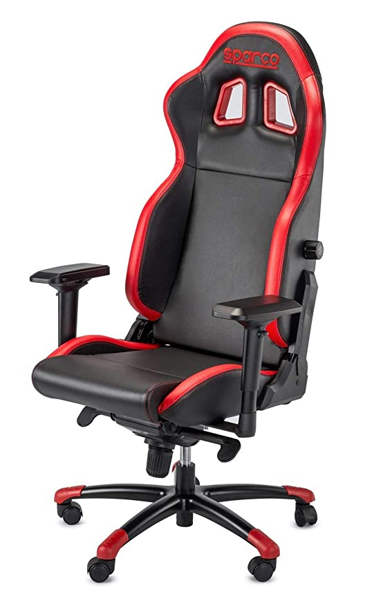 Sparco S00976NRRS Silla Oficina/Gaming Grip Negro/Red Sky