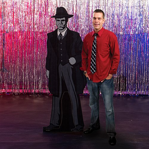 Guy Gangster (6 ft. 3 in. Roaring 20's Twenties Gangster Guy Standee Standup Photo Booth Prop Background Backdrop Party Decoration Decor Scene Setter Cardboard Cutout)