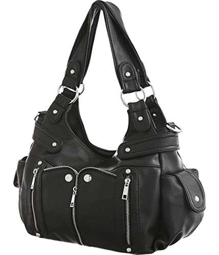 Laurel Sunset Kia Black Crossbody Convt. Utilitarian Hobo Handbag by Laurel  and Sunset  Amazon.in  Shoes   Handbags dddf89495e00b
