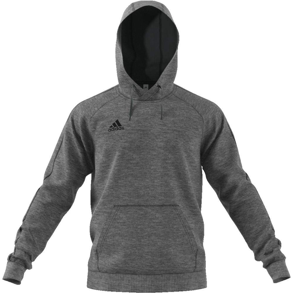 adidas Core 18 Hoodie - Adult - Dark Grey/White - Small at Amazon Mens Clothing store: