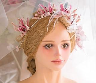 Garland copricapo copricapo da sposa Ornamenti di capelli di sposa di cappello da sposa della sposa di cappello della sposa di cerimonia nuziale della damigella d'onore della damigella d'onore Accessori nuziali dei capelli copricapo da damigel