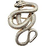 GuDeKe ユニセックス ジュエリー アクセサリー 毒へびブローチ コブラ 蛇 ラペルピン